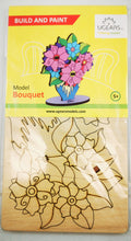 Load image into Gallery viewer, UGears Bouquet.  NO GLUE REQUIRED 3D-Puzzle Coloring Model - 8 pieces (Easy) UGR10008