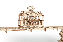 Load image into Gallery viewer, UGears  NO GLUE REQUIRED Tram On Rails - 154 Pieces (Medium) UGR70008 ($55 Incl Tax)