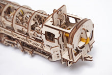 Load image into Gallery viewer, UGears  NO GLUE REQUIRED Steam Locomotive With Tender - 443 Pieces (Medium) UGR70012 ($100 Incl Tax)