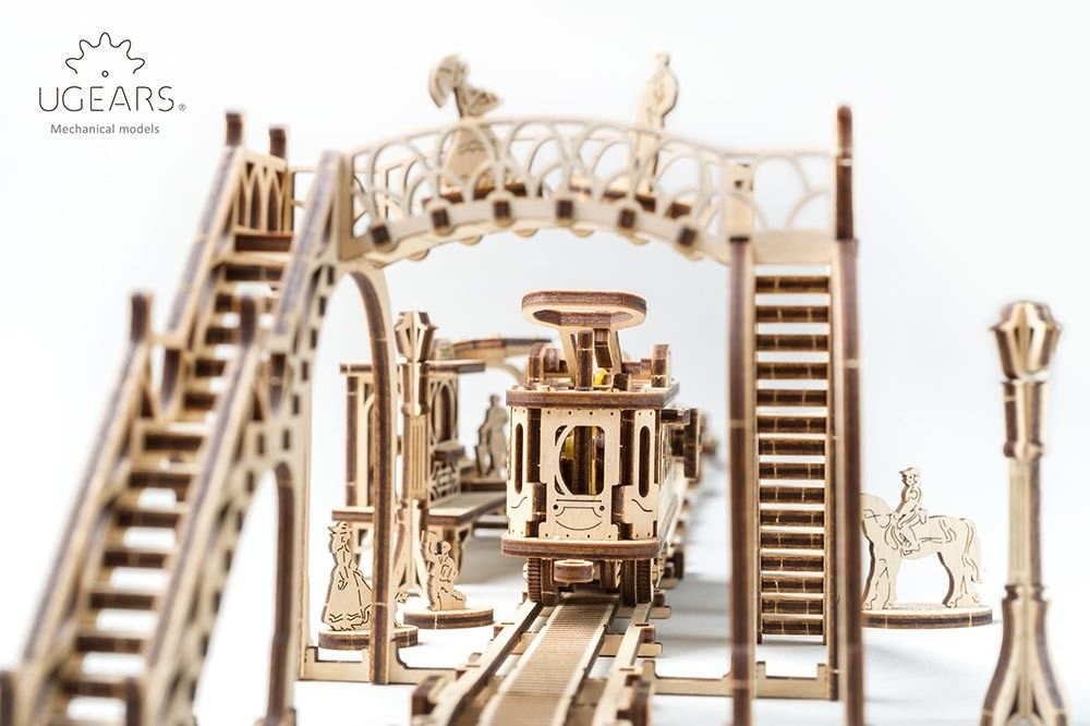 UGears  NO GLUE REQUIRED Tram Line - 248 Pieces (Medium) UGR70028