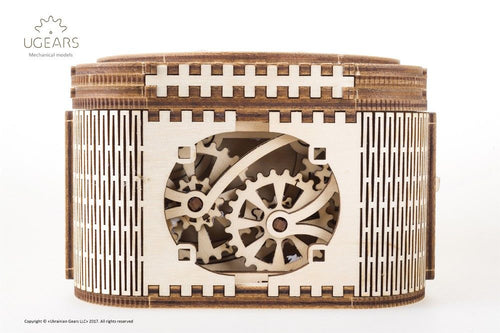 UGears NO GLUE REQUIRED Mechanical Treasure Box - 190 Pieces (Medium) UGR70031