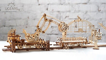 Load image into Gallery viewer, UGears  NO GLUE REQUIRED Rail Mounted Manipulator - 354 Pieces (Advanced) UGR70032
