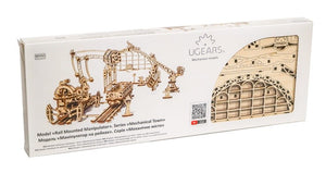 UGears  NO GLUE REQUIRED Rail Mounted Manipulator - 354 Pieces (Advanced) UGR70032