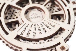 UGears Date Navigator - Your own Mechanical Calendar! NO GLUE REQUIRED 24 Pieces (Easy) UGR70036