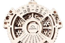 Load image into Gallery viewer, UGears Date Navigator - Your own Mechanical Calendar! NO GLUE REQUIRED 24 Pieces (Easy) UGR70036