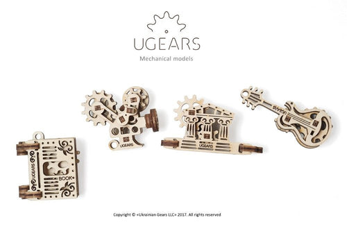 UGears Natural Wood NO GLUE REQUIRED U-Fidgets Creation (4 Models) (Easy) UGR70041