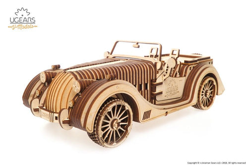 UGears NO GLUE REQUIRED Antique Style Roadster VM-01 - 437 Pieces (Advanced) UGR70052