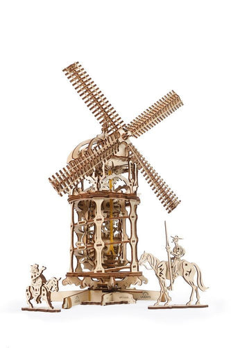 UGears NO GLUE REQUIRED Tower Windmill - 585 Pieces (Advanced) UGR70055