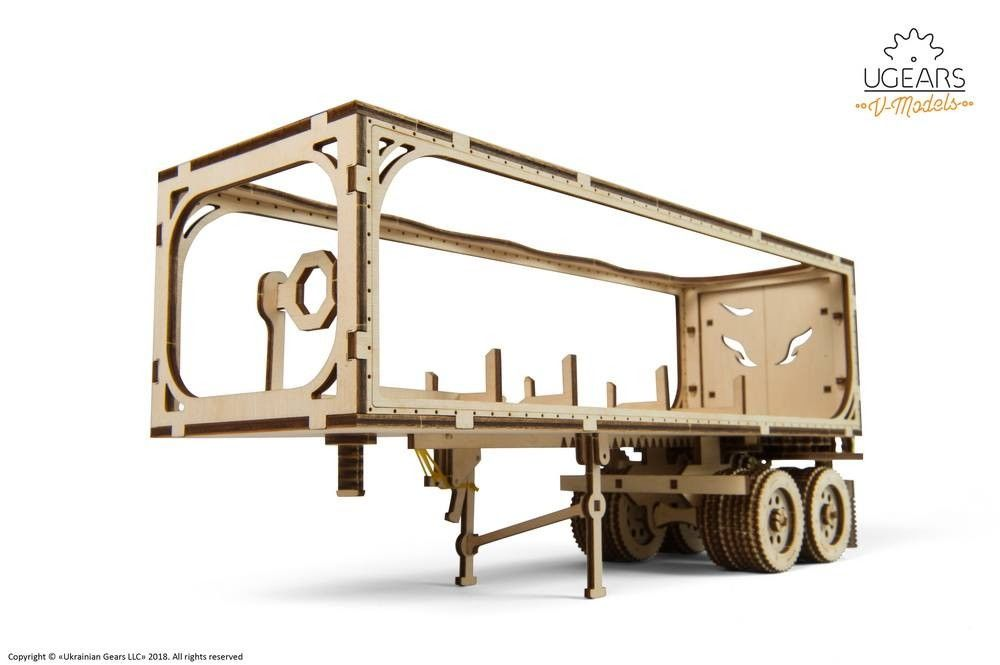 UGears  NO GLUE REQUIRED  Trailer for Heavy Boy Semi Truck VM-03 - 138 Pieces (Medium) UGR70057 ($45 Incl Tax)