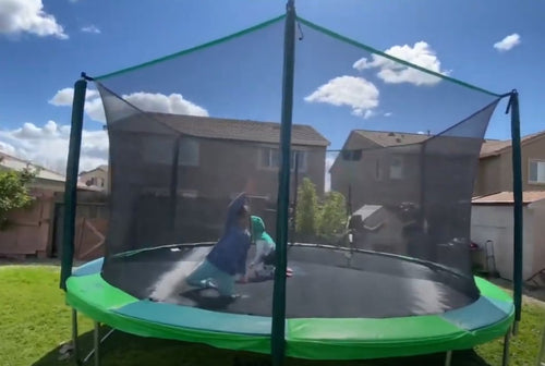 Trampoline Enclosure Net, Fits for 8 ft. Round Frames with Adjustable Straps Using 6 Poles or 3 Arches - Net Only