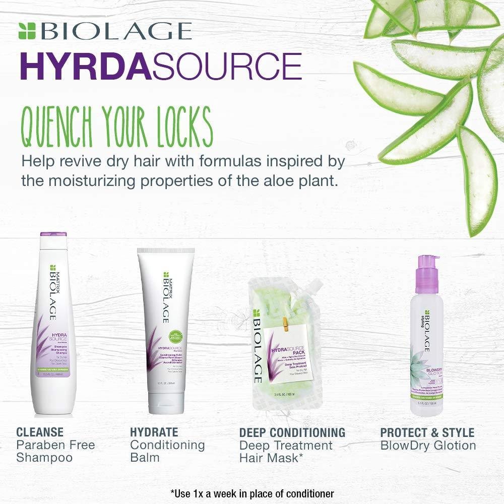 BIOLAGE Hydrasource Shampoo | Hydrates & Moisturizes Dry Hair | Paraben-Free | For Dry Hair