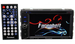 "Farenheit TI-623B Double DIN Bluetooth In-Dash DVD/CD/AM/FM Car Stereo Receiver w/ 6.2"" Screen"
