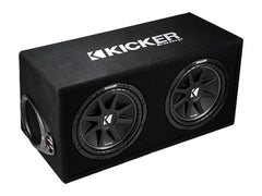 "Kicker 43DC122 Ported enclosure with dual 12"" Comp subwoofers"