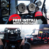 4. Free install with purchase of any rockford or kicker utv / side by side kit !