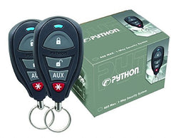 Python 1-Way Security System features 1/4-mile range and two 1-way 4-button remote controls.