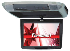 "Farenheit T-1100CM (Black/Gray/Beige Skins Included) 11.2"" TFT-LCD Overhead Flip-Down Monitor with 3 Snap-on Skins/Colors"