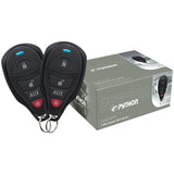 Python 1-Way Remote Start System features up to 1/4-mile range* and two stylish 4-button in-line 1-way remote controls.