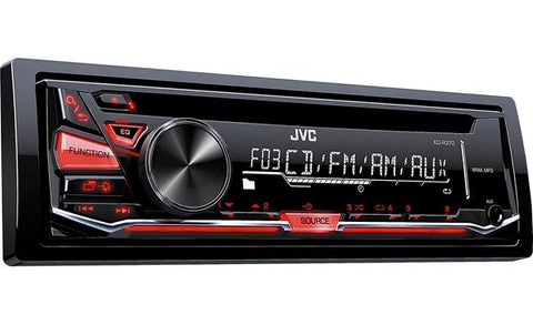 JVC KD-R370 Single DIN In-Dash CD//AM//FM//Receiver with Detachable Faceplate New