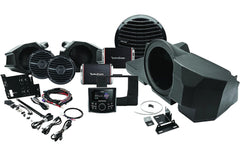"Rockford Fosgate RZR-STAGE3 Stage 3 audio upgrade kit for Polaris RZR: includes marine receiver, set of 6-1/2"" speakers, 2 amps, and 10"" subwoofer"