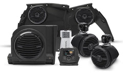 Rockford Fosgate X3-STAGE4 Stage 4 audio upgrade kit for Can-Am Maverick X3: includes receiver, 4 speakers, 4-channel amp, and subwoofer