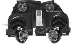 Rockford Fosgate X3-STAGE5 Stage 5 audio upgrade kit for Can-Am Maverick X3: includes receiver, 4 speakers, 5-channel amp, and 2 subwoofers