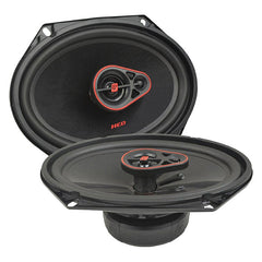 "Cerwin Vega H7683 720W Max (120W RMS) 6"" x 8"" HED Series 3-Way Coaxial Car Speakers"