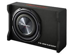 "Pioneer TS-SWX2502 1200W 10"" Shallow-Mount TS Series Single 4 ohm Loaded Enclosure"