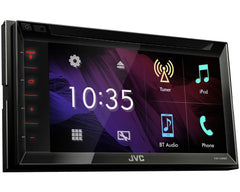 "JVC El Kameleon KW-V340BT Double DIN SiriusXM Ready Bluetooth In-Dash DVD/CD/AM/FM Car Stereo Receiver w/ 6.2"" Touchscreen"