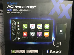 "Axxera ACPM6628BT 6.2"" Multimedia Stereo with Apple CarPlay, Bluetooth, and USB"