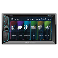 "Soundstream VR-624B Double DIN Bluetooth In-Dash DVD/CD/AM/FM Car Stereo Receiver w/ 6.2"" Screen"