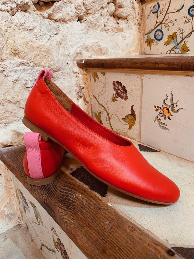 red and pink shoes in larger sizes