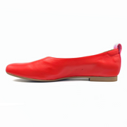 Red flat shoes for big feet