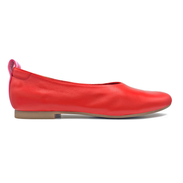 red ballet flat shoes for larger feet