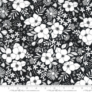 black flower pattern 03