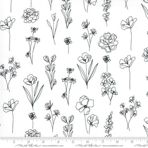white flower pattern 04