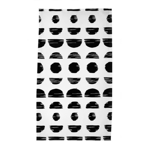 White Phases Kitchen Towel