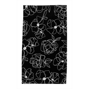 Black Floral Kitchen Towel