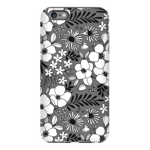 Grey Floral Patterned Phone Case