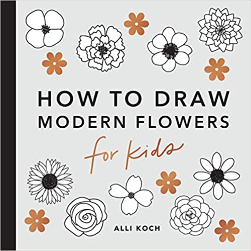 How to draw modern flowers for kids