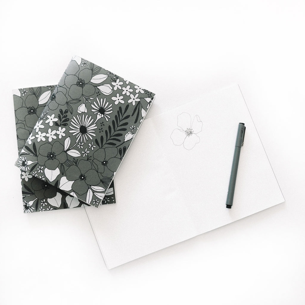 Floral Unlined Journal