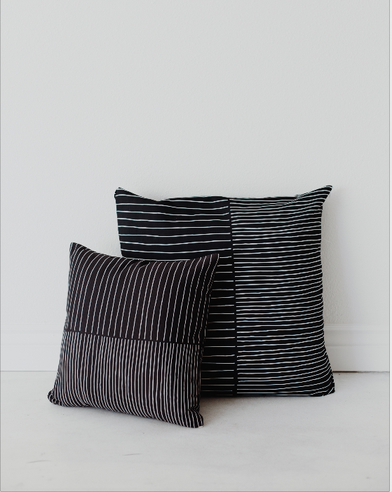 Black Striped Pillow