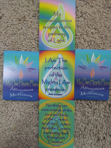 "Affirmation and Meditation Cards, Daily Affirmation cards,  ""My Own Hearts Flame""  Affirmation series"