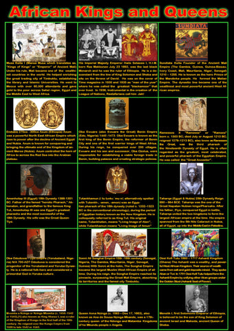 African Kings and Queens Posters