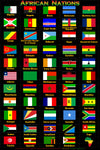 African Nation Flags Poster