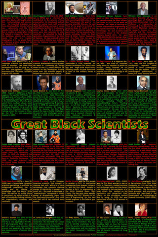 Great  Black Scientists poster