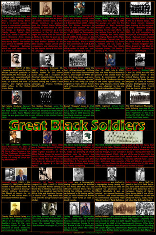 Great Black Soldiers Poster, Black History, Black History Month posters
