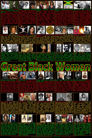 Great Black Women Poster, Black History, Black History Month posters