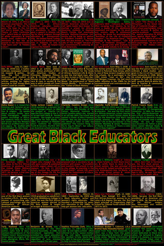 Great Black Educators Poster, Black History, Black History Month posters