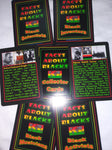 """Facts About Blacks"" Black History Collector Cards."