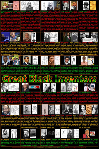 Great Black Inventors poster,  Black History poster